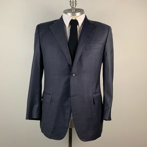 Canali Blazer Blue Check Blazer Mens 56 (46R US)
